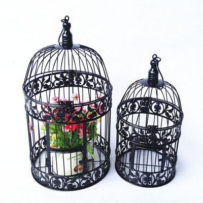 "Bird Cage Metal black 12.25""Hx20.75""D Decor- BDG6 - Viva La Rosa"