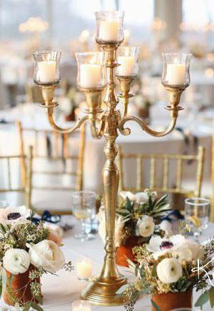 gold metal candelabra