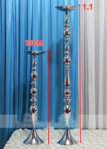 "Silver TALL CANDELABRA 42"" CANDLE STICK CANDLEHOLDER CANDLESTICK metal stand-GOL1-6"