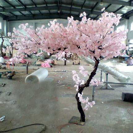 2 meter Tall Faux Cherry Blossom Tree with artificial flower pink - Viva La Rosa