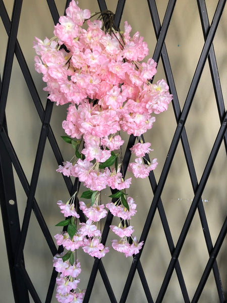 Artificial Cherry Blossom Hanging pink wedding decoration silk fake flower - Viva La Rosa
