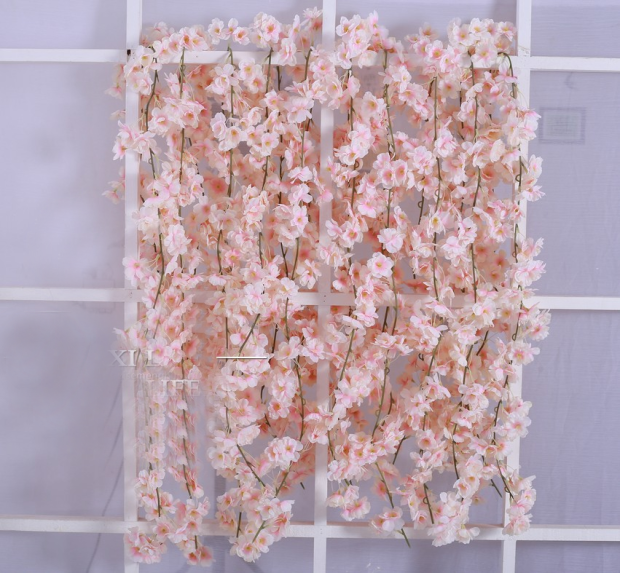 Artificial Flower Cherry Blossom Blush Hanging Flower long garland decor - Viva La Rosa