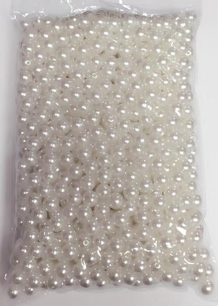 Faux Pearl Ivory or White 10mm beads (Ivory) FAU1-2 - Viva La Rosa