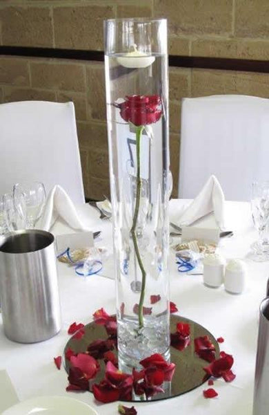 "Wedding Decoration Cylinder Vase 20""x4"" simple centrepieces MV600-50 - Richview Glass Wedding Supplies"