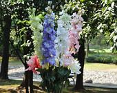 Artificial Silk flower Delphinium (dark purple)- DEL1 - Viva La Rosa