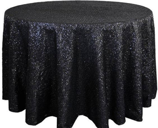 "Sequin Table Cloth Square 90""x156 (silver)-seq3"