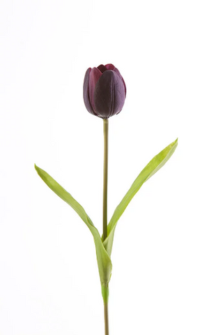 Real Touch Tulip Bud Medium Wedding Decor (Purple)