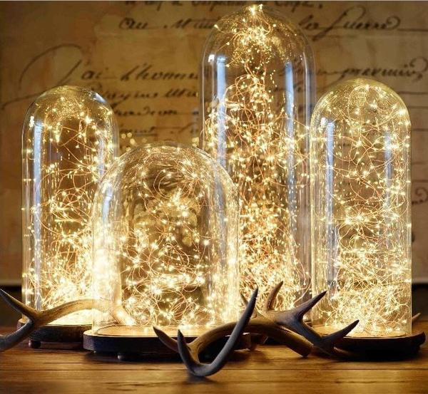Fairy lights 2 metre (warm-white)-FAI1 - Richview Glass Wedding Supplies