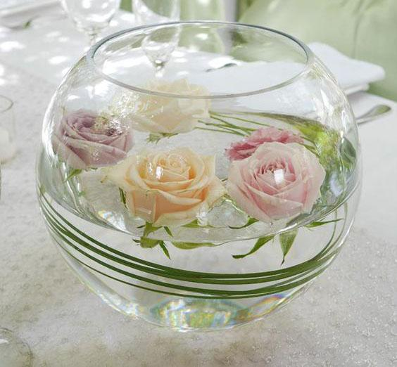 "10"" H Fish Bowl Vase - Richview Glass Wedding Supplies"
