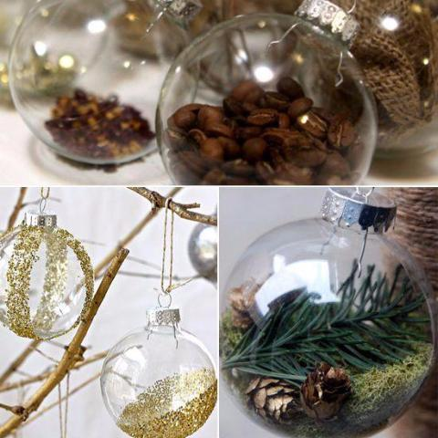 "Hanging Glass Vase 4"" Round Planter Bubble Ceiling Ball Terrarium"