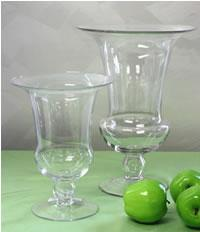 New Clear Glass Urn Vase