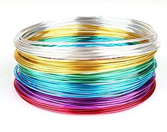 Aluminum Wire for Jewelry, Crafting (Blue)- EFAC6A57 - Viva La Rosa