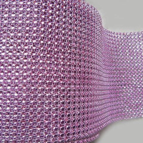 VASE WEDDING DECORATION TRIMMING MESH 10 YARD (pink)-VAS4