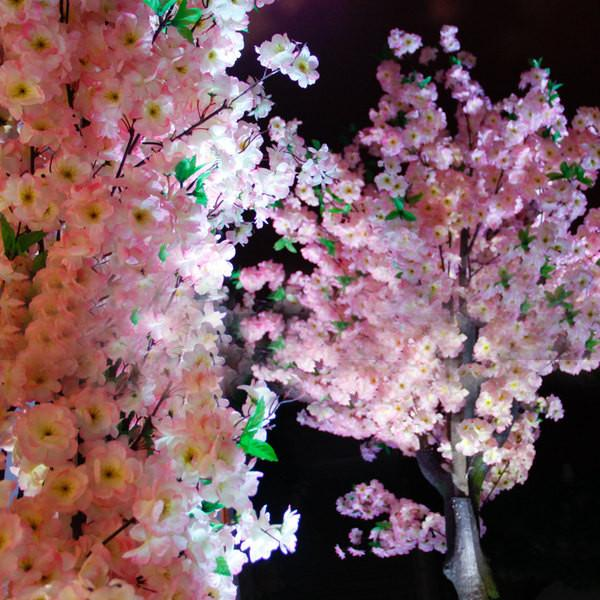 Artificial Cherry Blossom Sakura Cream wedding decoration silk fake flower - Viva La Rosa