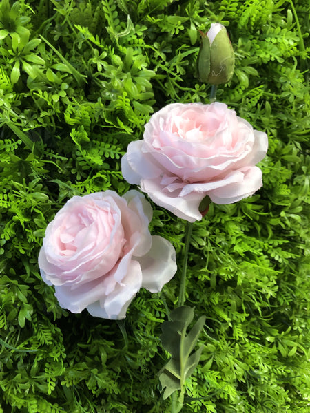 2+1 head Pink Puffy Rose Spray artificial flower - Richview Glass Wedding Supplies
