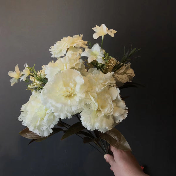 Big stem Carnation cream champagne