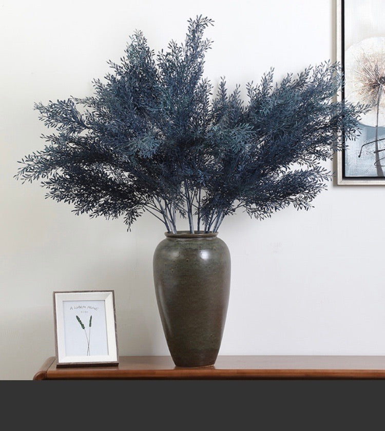 Big real touch blue leaf artificial greenery