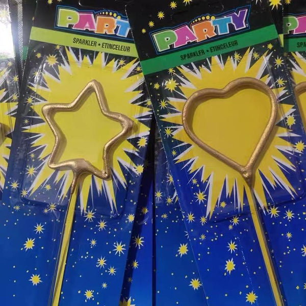 Star Sparkler Candles Gold party Decor