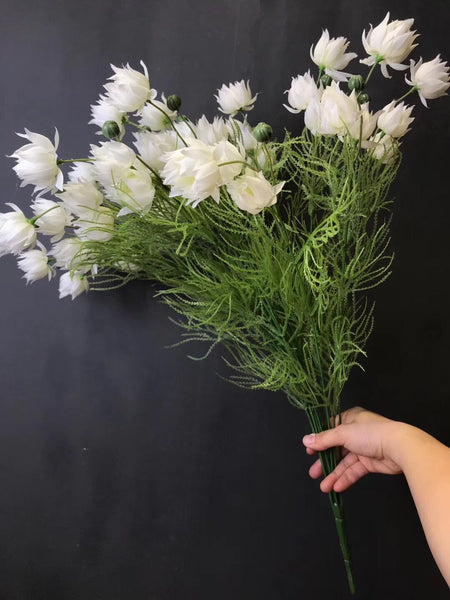 New white bridal flower bunch Artificial Filler Flower