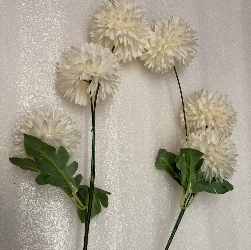 New Champagne Pom Artificial Filler Flower