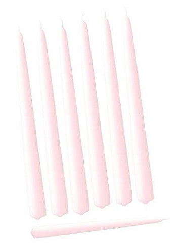 "Pack of 12 pink taper Candles wedding decor 10"" long"