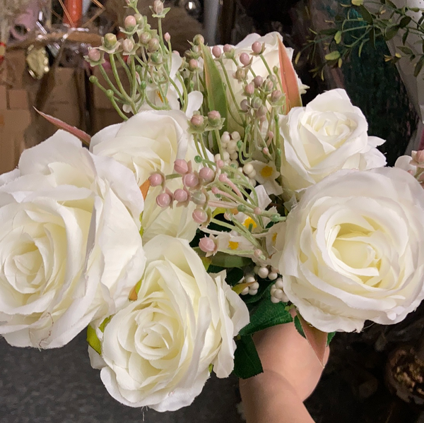 White ROSE BUNCH With filler