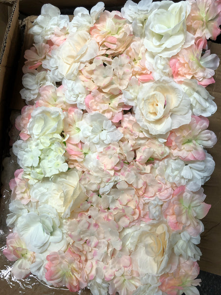Backdrop Panel Roses Hydrangea Blush Artificial Flower wall