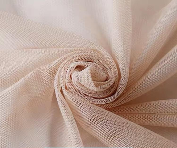 Almond dusty tulle fabric 10 meter