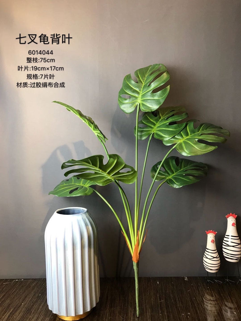7x bunch GREEN TROPICAL palm/monstera LEAF Greenery