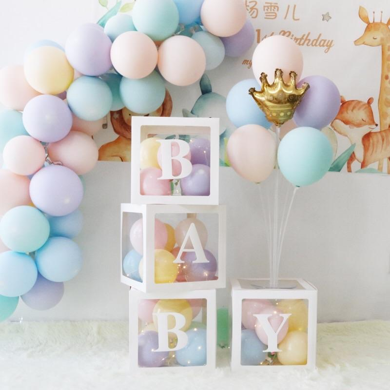 BABY white Box with balloon