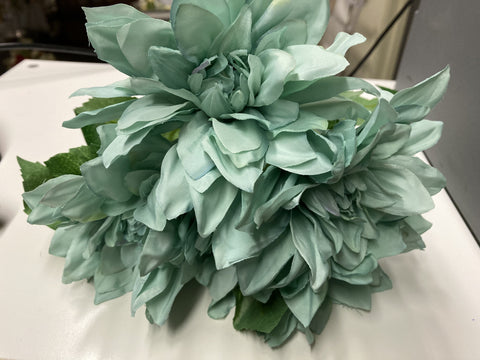 Artificial Silk artificial Tiffany Blue Dahlia
