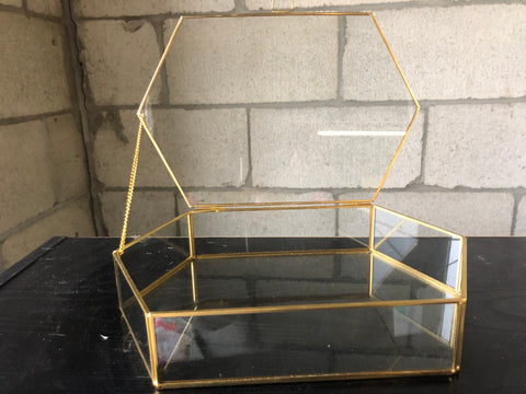 Money Box GEOMETRIC TERRARIUM VASE Jewelry Box (Gold) Large