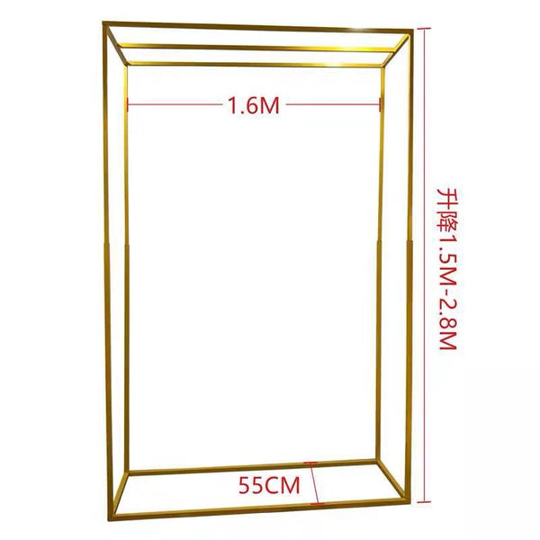 Metal rectangular backdrop stand white 1.6mx1.5m(-2.8m)H