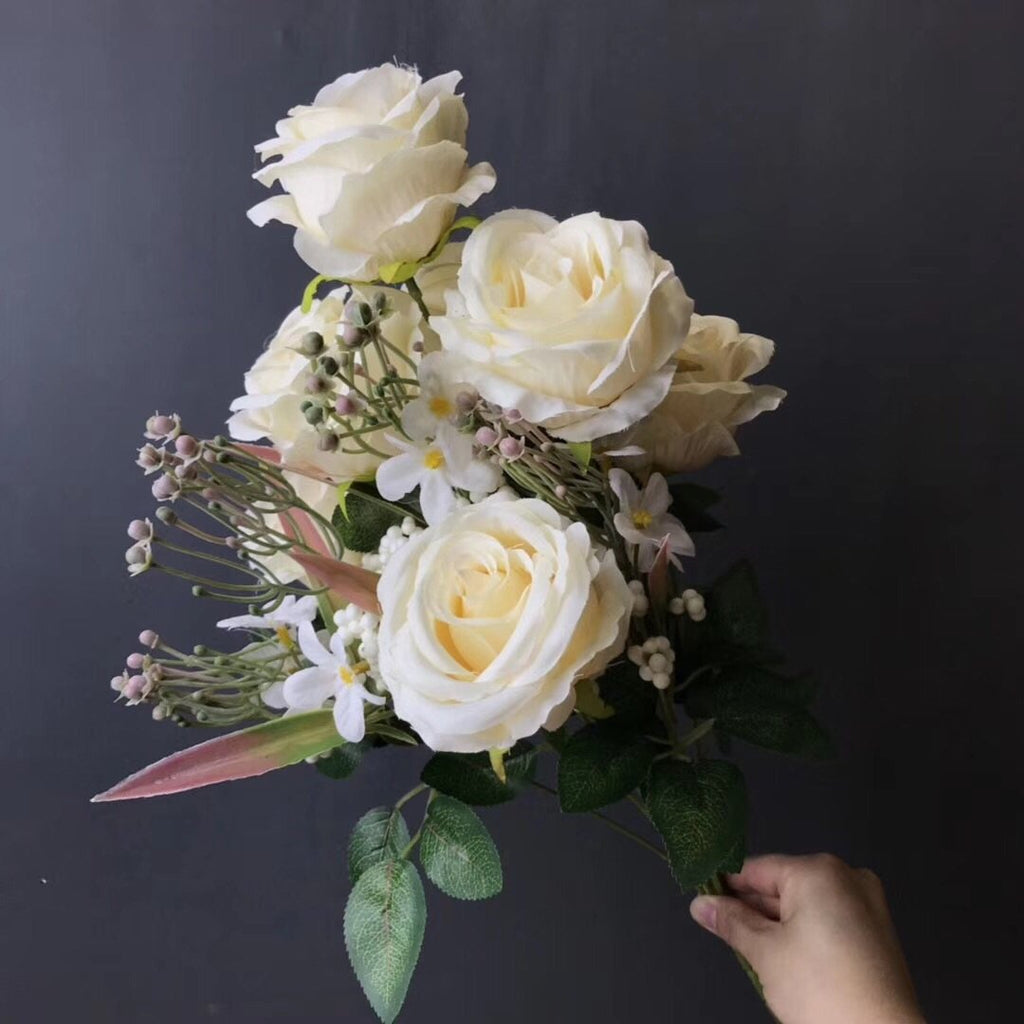 Cream ROSE BUNCH With fillers