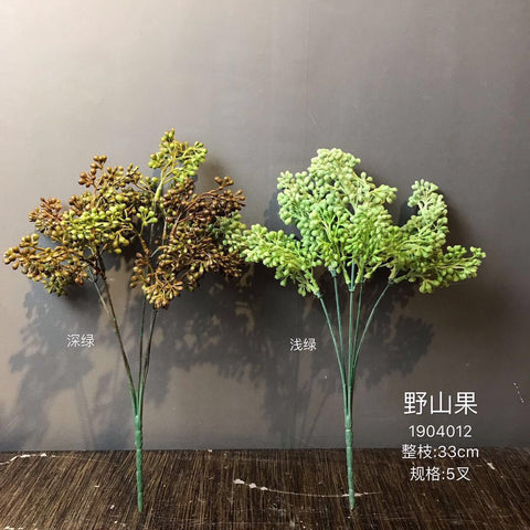 Dark Green BERRY ARTIFICIAL FLOWER New filler Greenery