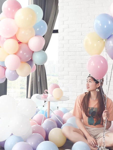 100 pcs Mix Pastel color double layer balloon baby shower