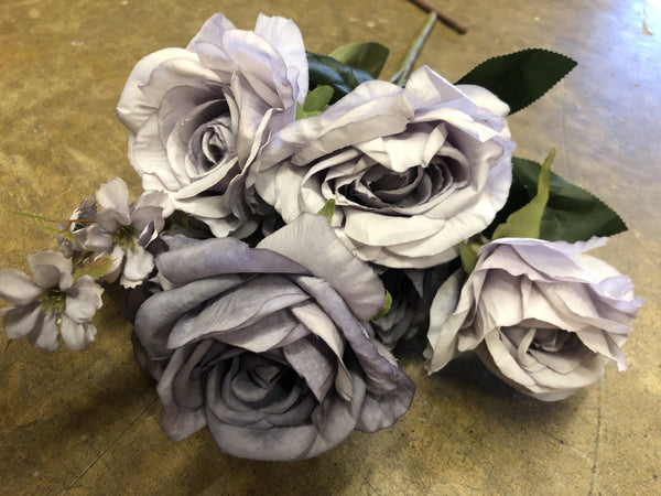 Mixed Purple/lilac Roses Artificial Flower with filler