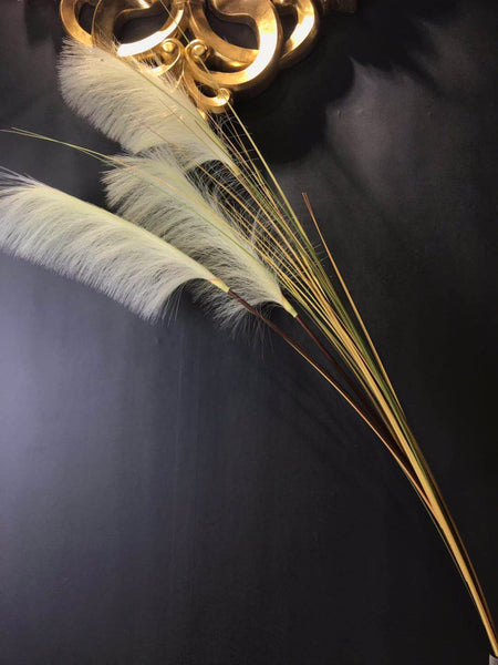Pampas Grass Artificial Flower white