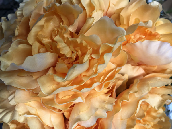 HEAD FABRIC ARTIFICIAL PEONIES PEONY BUNCH Orange