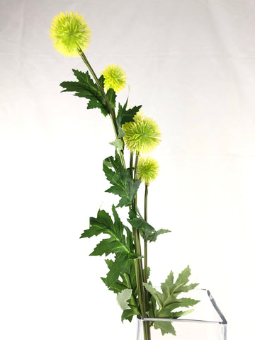 Dandelion fruit bud Green Artificial Flower Single Stem - Viva La Rosa