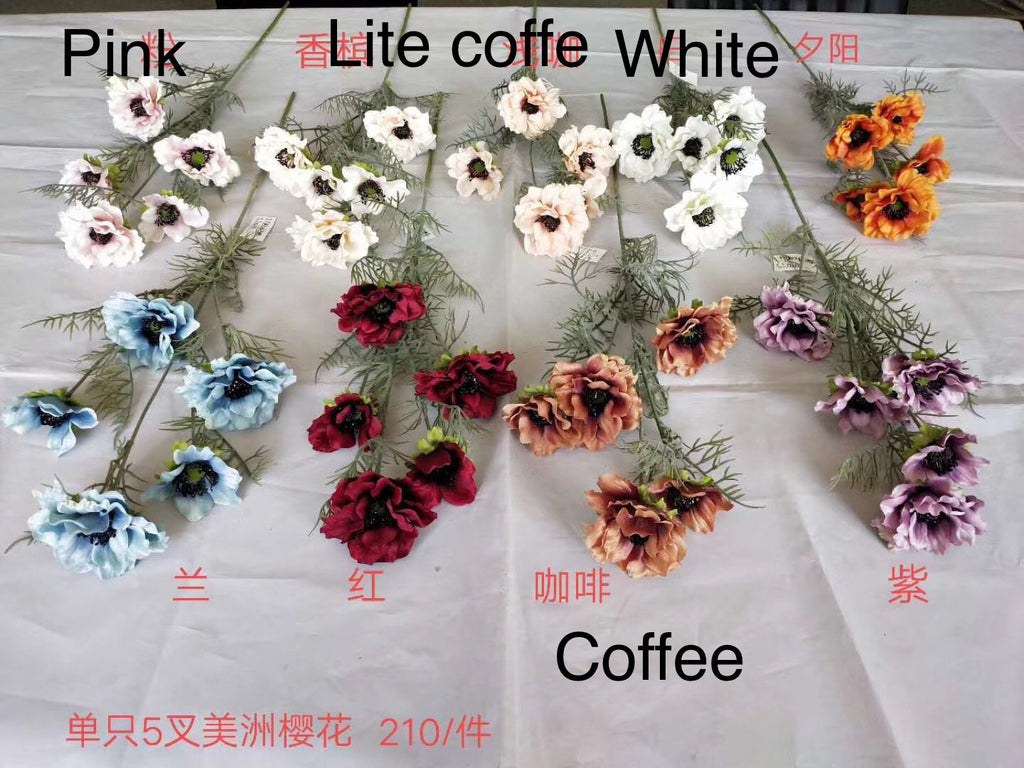 Silk large Poppy Black eye Susan Light coffee