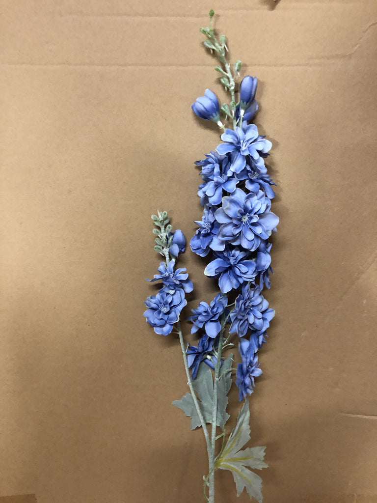 Blue Artificial Silk flower Delphinium - Richview Glass Wedding Supplies