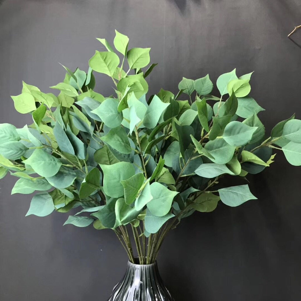 Artificial long stem green Bodhi leaf greenery - Richview Glass Wedding Supplies