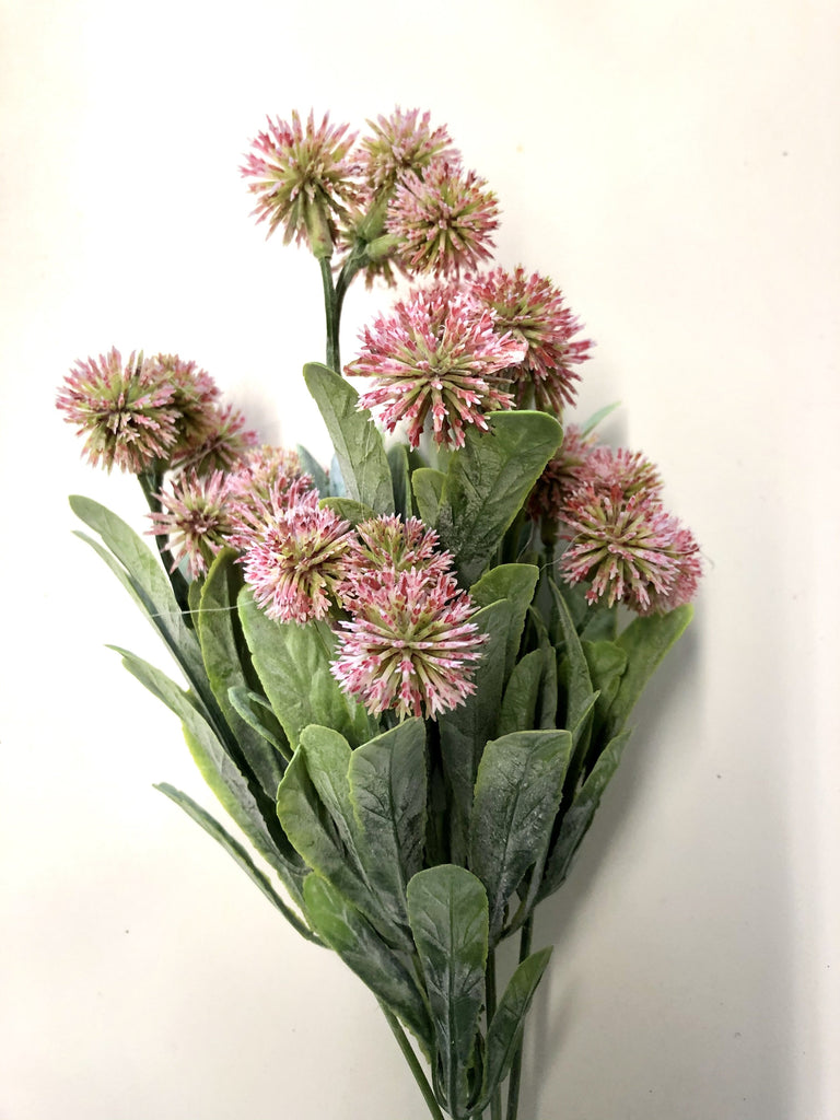Pink Thistle Bunch Artificial Flower 7 Stem bunch