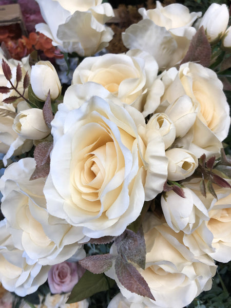 New fall color cream Roses Artificial Flower R183