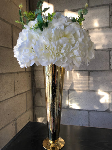 Artificial Flower Rose Hydrangea Arrangement Cream - Viva La Rosa