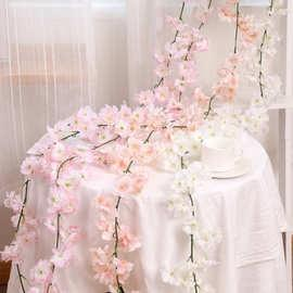 White Cherry blossom Hanging artificial Flower