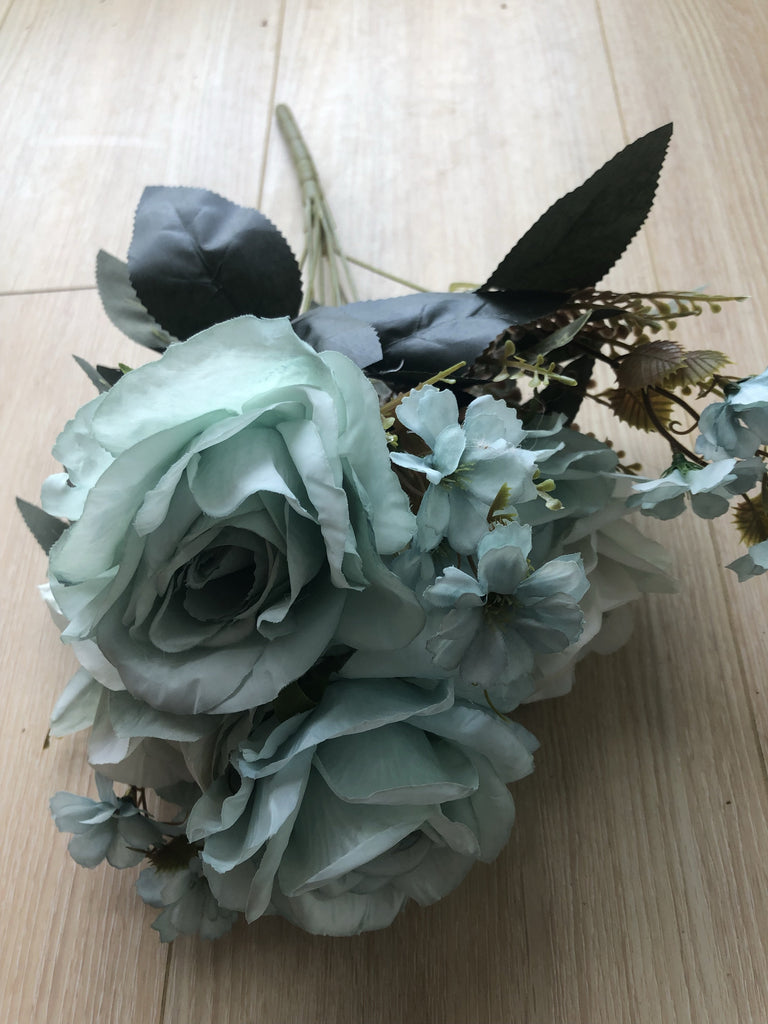 Mixed blue Roses Artificial Flower with filler