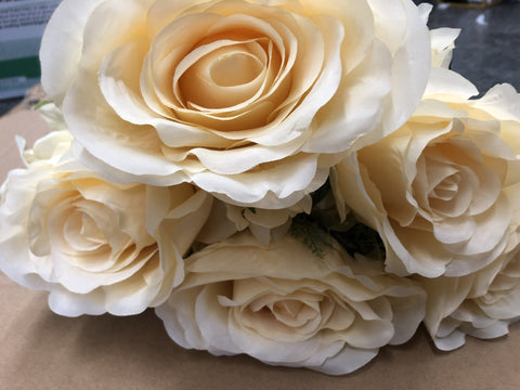 cream jumbo rose artificial flower