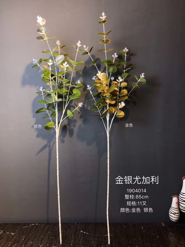 Silver Eucalyptus Long Stem for Wedding home decor